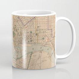 Vintage Map of Richmond Virginia (1876) Coffee Mug