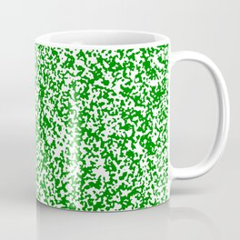 Tiny Spots - White and Green Coffee Mug