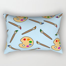 Paintbrush and palette pattern Rectangular Pillow