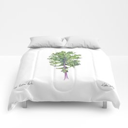 Red Russian Kale Comforters