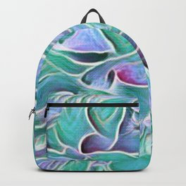 Flowing Soft Petal Abstract - Blue - Green Backpack