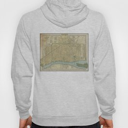 Vintage Map of Detroit Michigan (1895) Hoody