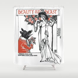Beast and the Beauty Shower Curtain