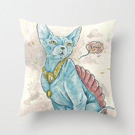 Lying  Throw Pillow