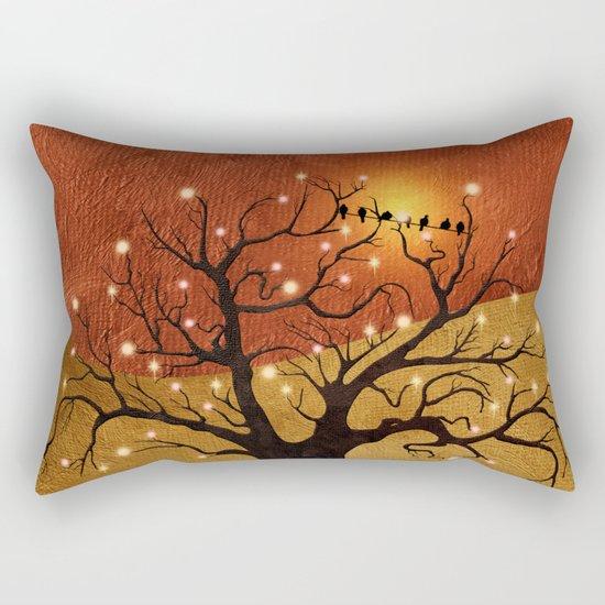 sunset and lights Rectangular Pillow
