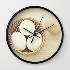 A Basket of Eggs Wall Clock
