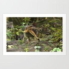 Dinosaur Spinosaurus Art Print