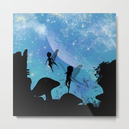 Wonderful fairy silhouette  Metal Print