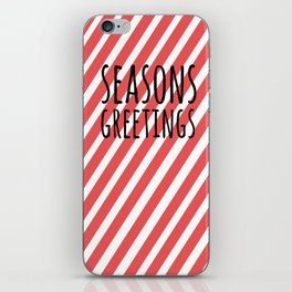 Season greetings polka iPhone Skin