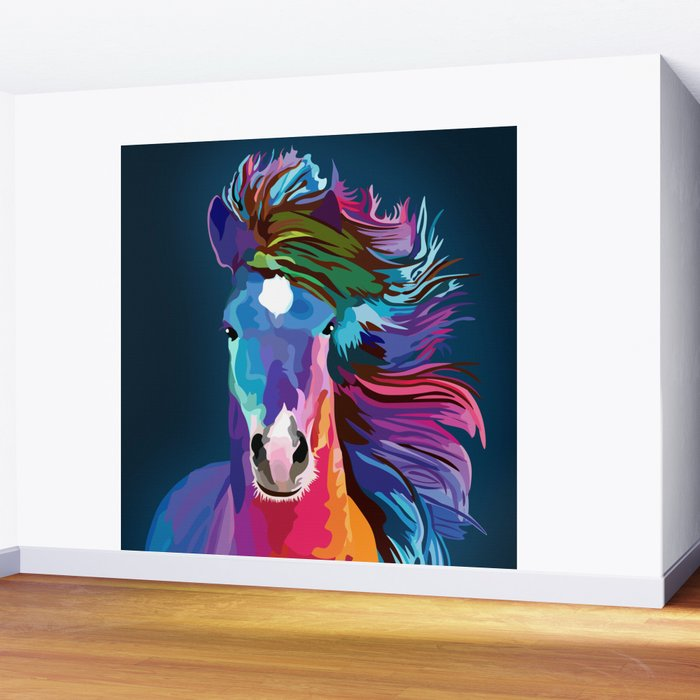 pop art horse Wall Mural
