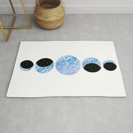 Watercolor Moon Phase  Rug