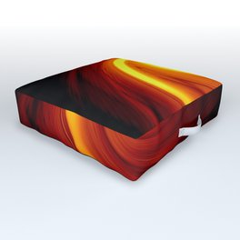 Fire Tempest Abstract Outdoor Floor Cushion