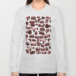 Cameras & Red Long Sleeve T-shirt