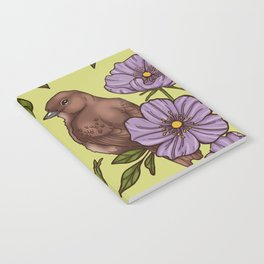 Purple Wild Rose Notebook