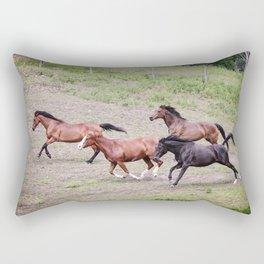 Running Herd Rectangular Pillow