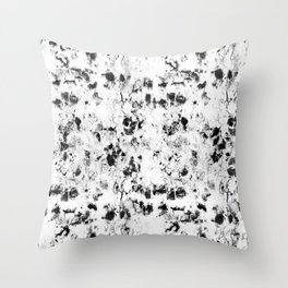 Soft rock // abstract black-and-white Throw Pillow
