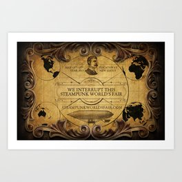 Steampunk World's Fair Interrupt Poster Art Print