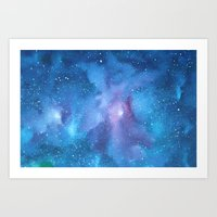 celestial Art Prints featuring Celestial by Toni Yasger