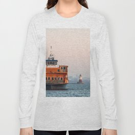Lighthouse & Staten Island Ferry Long Sleeve T-shirt