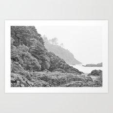 Washington Coast Mist Fog Shoreline Beach Pacific Ocean Long Beach Beards Hollow Forest Northwest Art Print