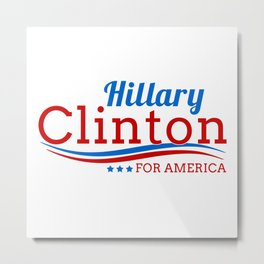 Hillary Clinton for America Metal Print