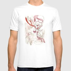 Rose de Charme MEDIUM Mens Fitted Tee White