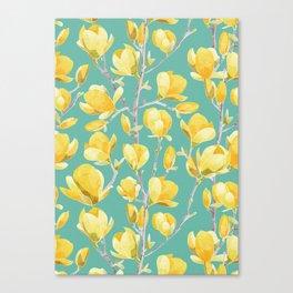Yellow Magnolia Spring Bloom Canvas Print