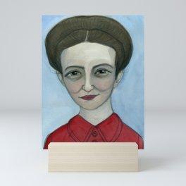 """Simone de Beauvoir Literary Portrait,  """"Simone au jour le jour"""" Mini Art Print"""