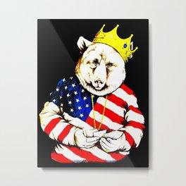 King Bear intense colour1 Metal Print