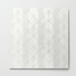 Simply Braided Chevron Lunar Gray Metal Print