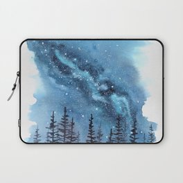 """Adventure Awaits"" watercolor galaxy landscape illustration Laptop Sleeve"
