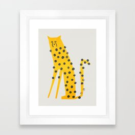 Speedy Cheetah Framed Art Print