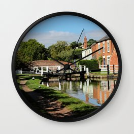 Braunston Lock No3 Northamptonshire Wall Clock