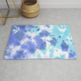 Pastel Ocean Blues Zen Tie Dye Rug