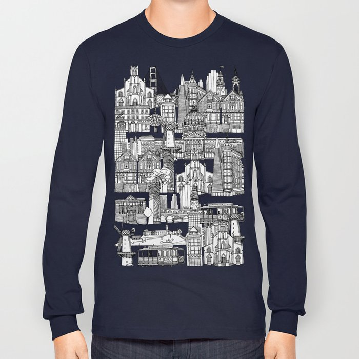 San Francisco coral Long Sleeve T-shirt