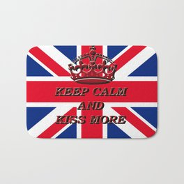 KEEP CALM AND KISS MORE Bath Mat