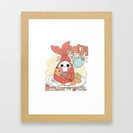 Aqua cat_ Rappa Framed Art Print