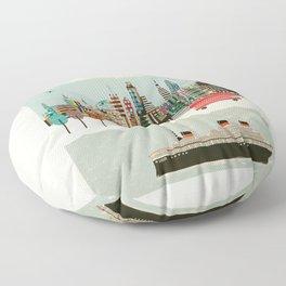 visit london city Floor Pillow