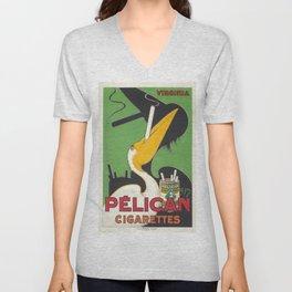 Vintage poster - Pelican Cigarettes Unisex V-Neck
