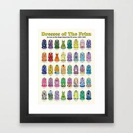 Dresses of The Frizz Framed Art Print