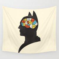 gotham Wall Tapestries featuring Bat Phrenology by Wharton