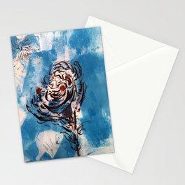 Blue Rose Mono Print Stationery Cards