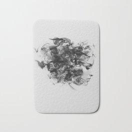 women and smoke, black and white Bath Mat