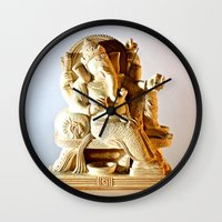 ohm Wall Clocks featuring Ohm by Will D'angelo