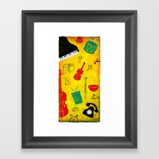 Music and Noise Framed Art Print