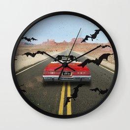 Fear and loathing las Vegas travel movie art Wall Clock
