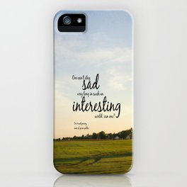 Interesting World Anne Shirley iPhone Case