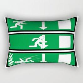 Fire Exit Funny. Rectangular Pillow