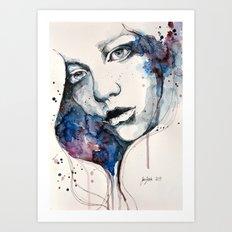 Window, watercolor & ink painting Art Print