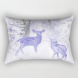 Winter Fawns Rectangular Pillow